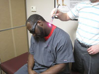 Cold laser neck back treatment