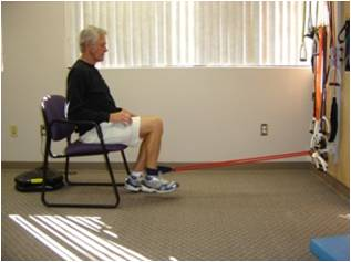 Knee flexion and extension chair