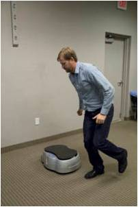 single leg jumps onto vibration plate